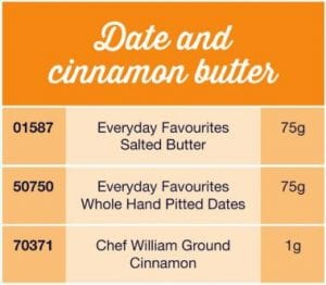 Date and cinnamon butter