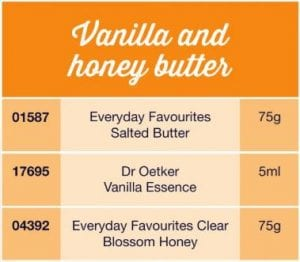 Vanilla and honey butter