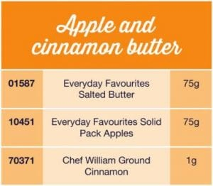 Apple and cinnamon butter